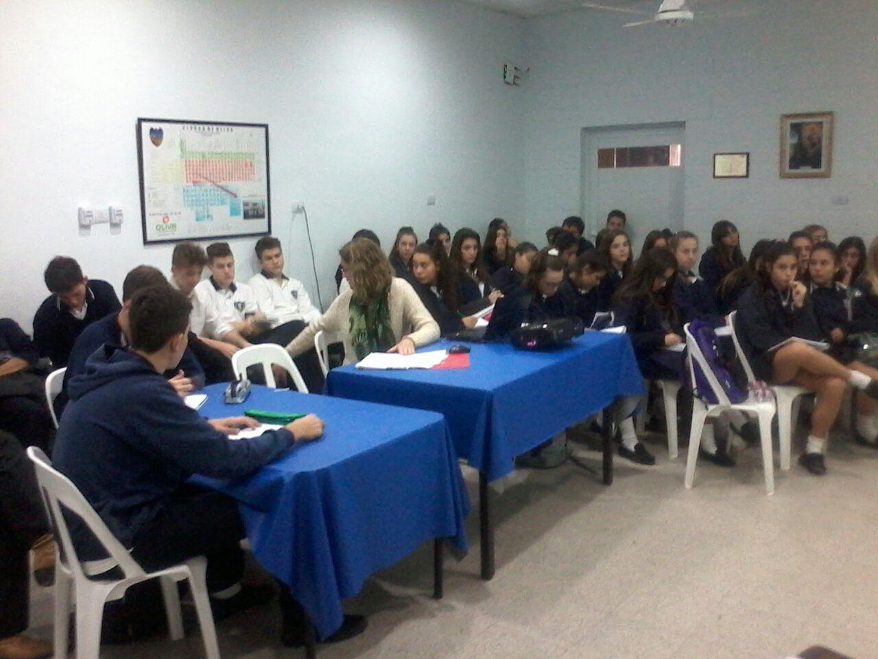 Alumnos de 4to año del Inst. Catalina C. de Visca
