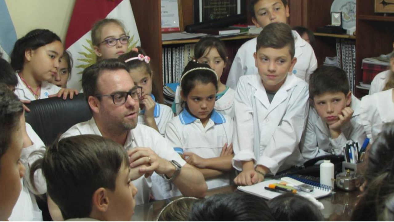 Visita de alumnos del Belgrano