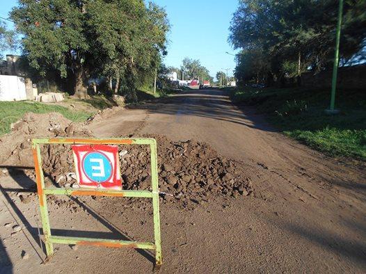 Pavimentación en calle La Rioja