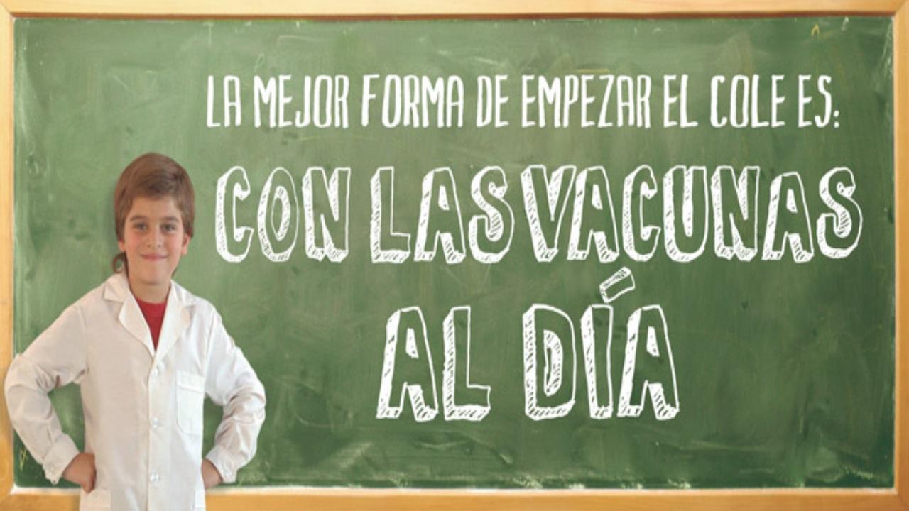 Campaña de vacunación escolar 2017 en Oliva.