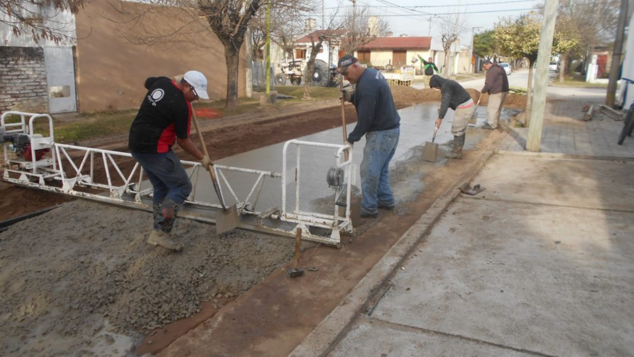 Pavimentación en calle Alfredo Palacios
