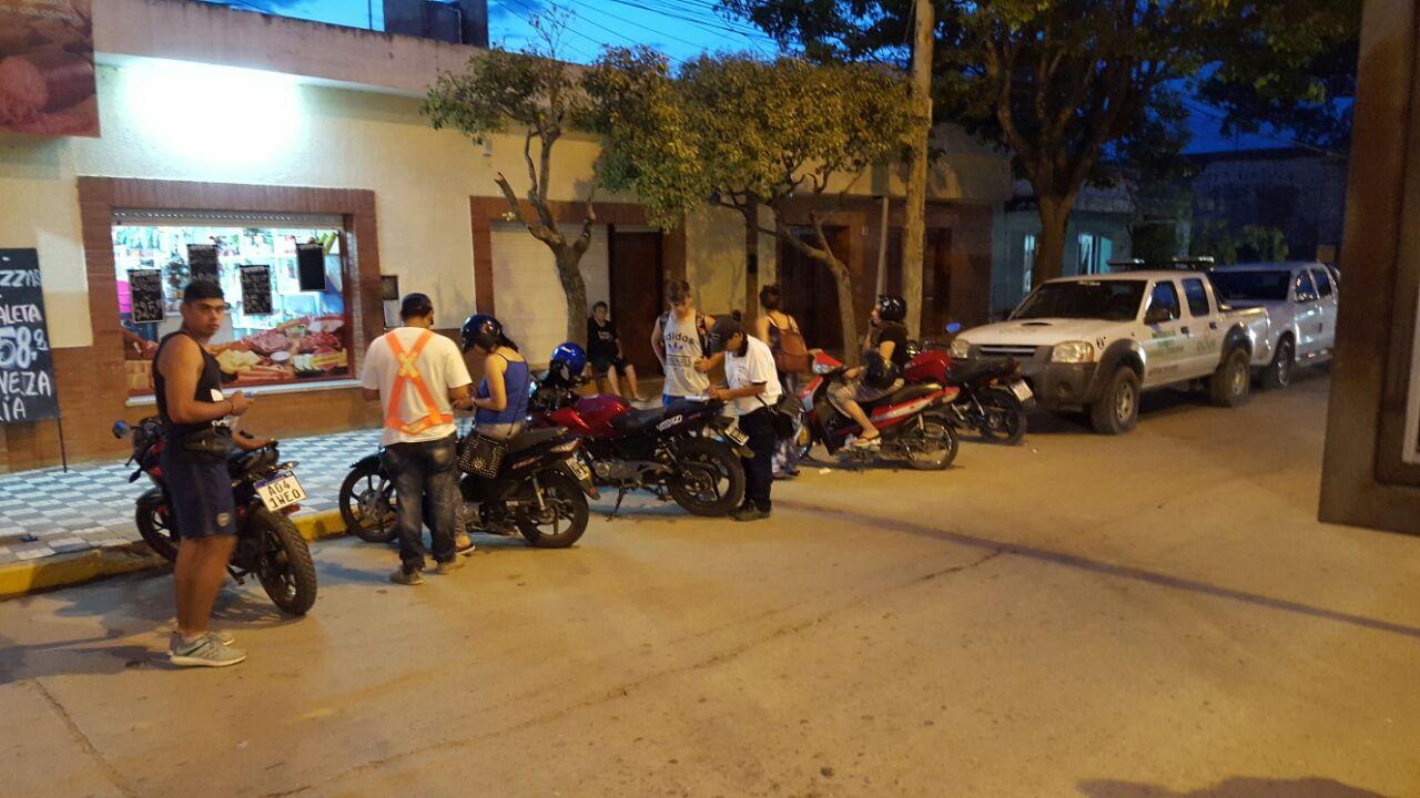 Operativo de tránsito en Oliva