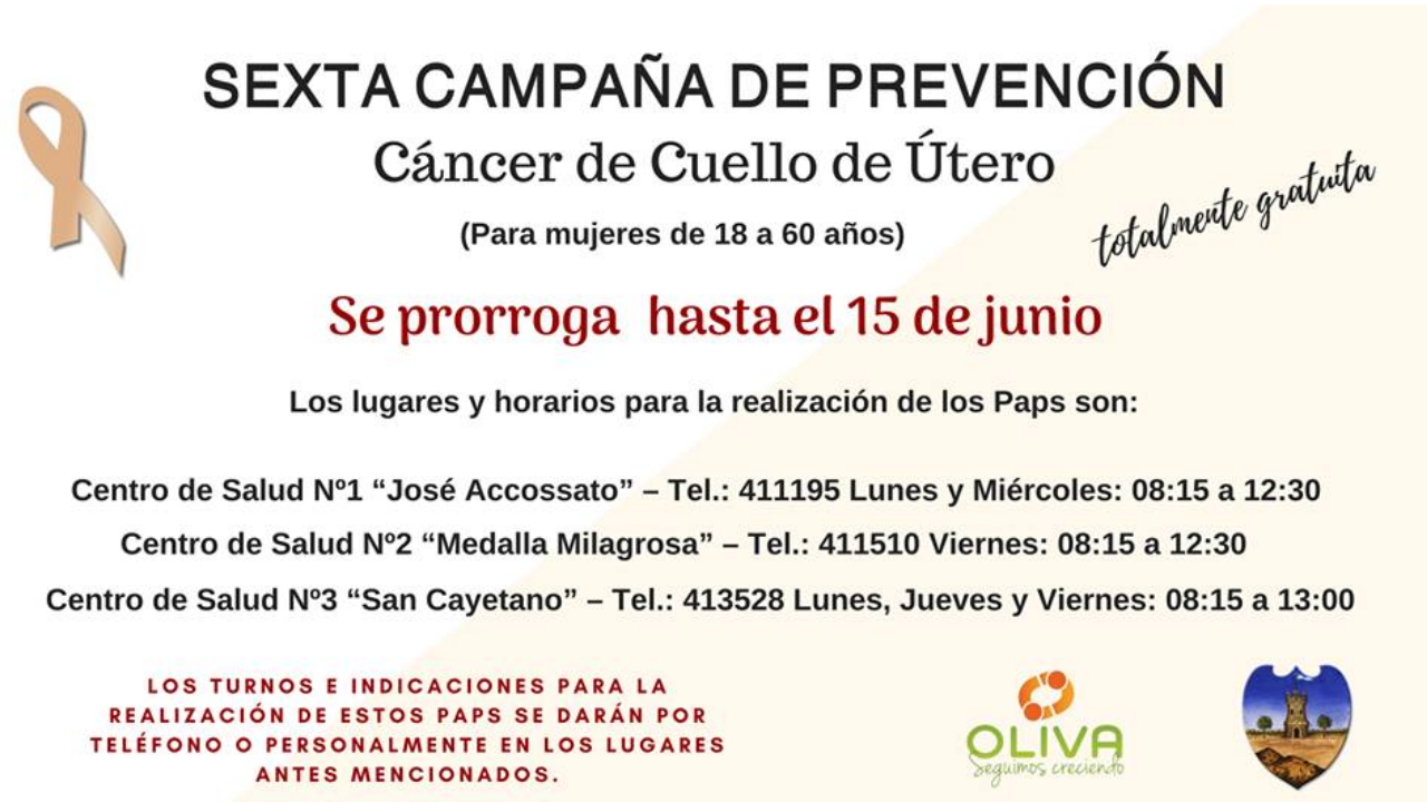 Campaña de prenveción de cáncer de cuello de útero
