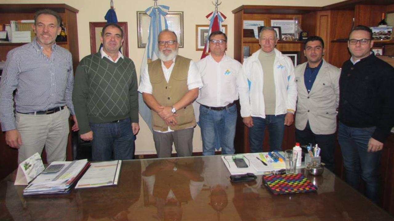 Visita de Ivan Sherman a la ciudad de Oliva