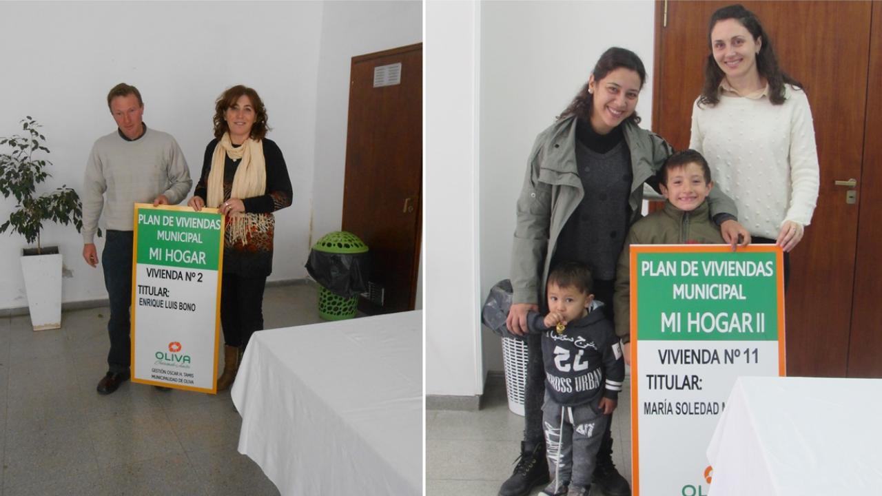 "Entrega de 2 viviendas del Plan ""Mi Hogar II"""