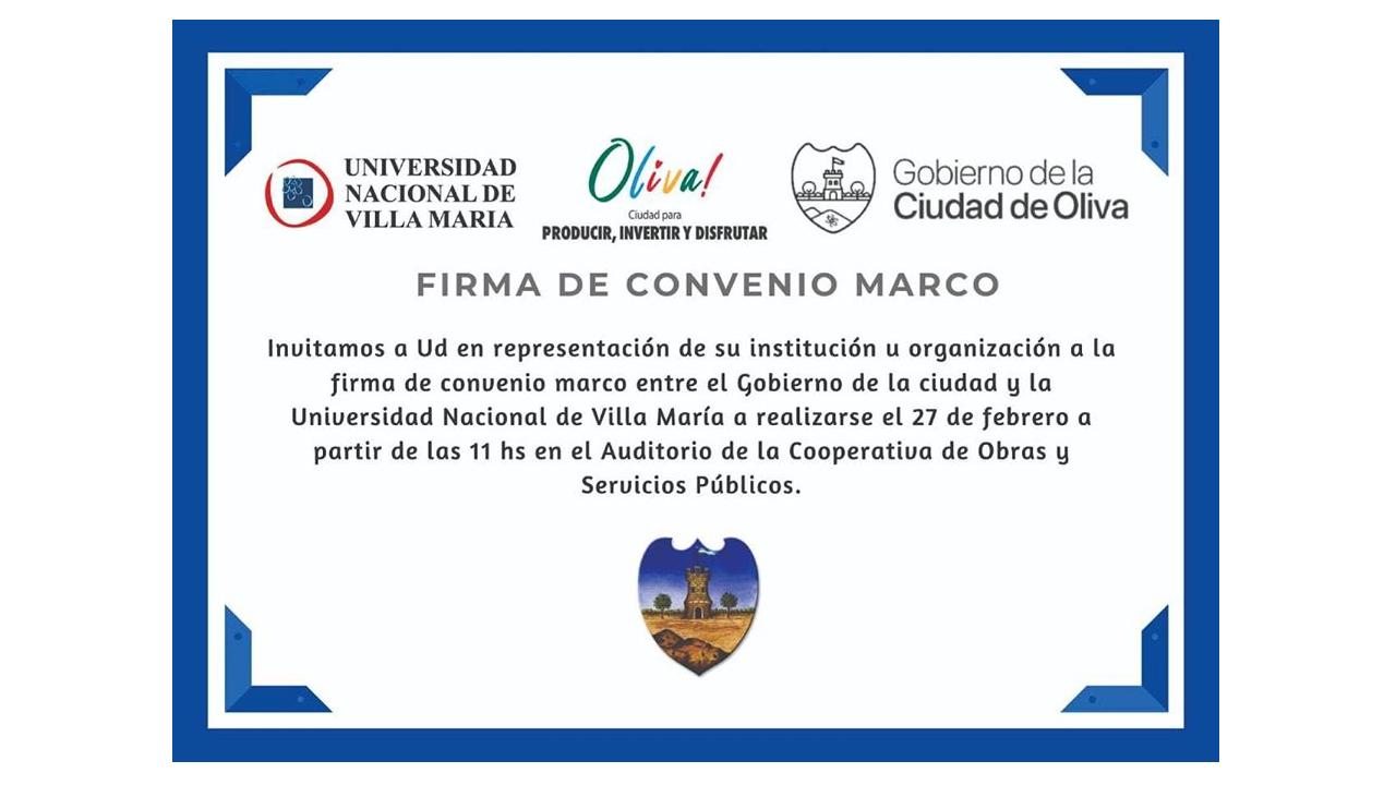 Convenio Universidad de Villa María