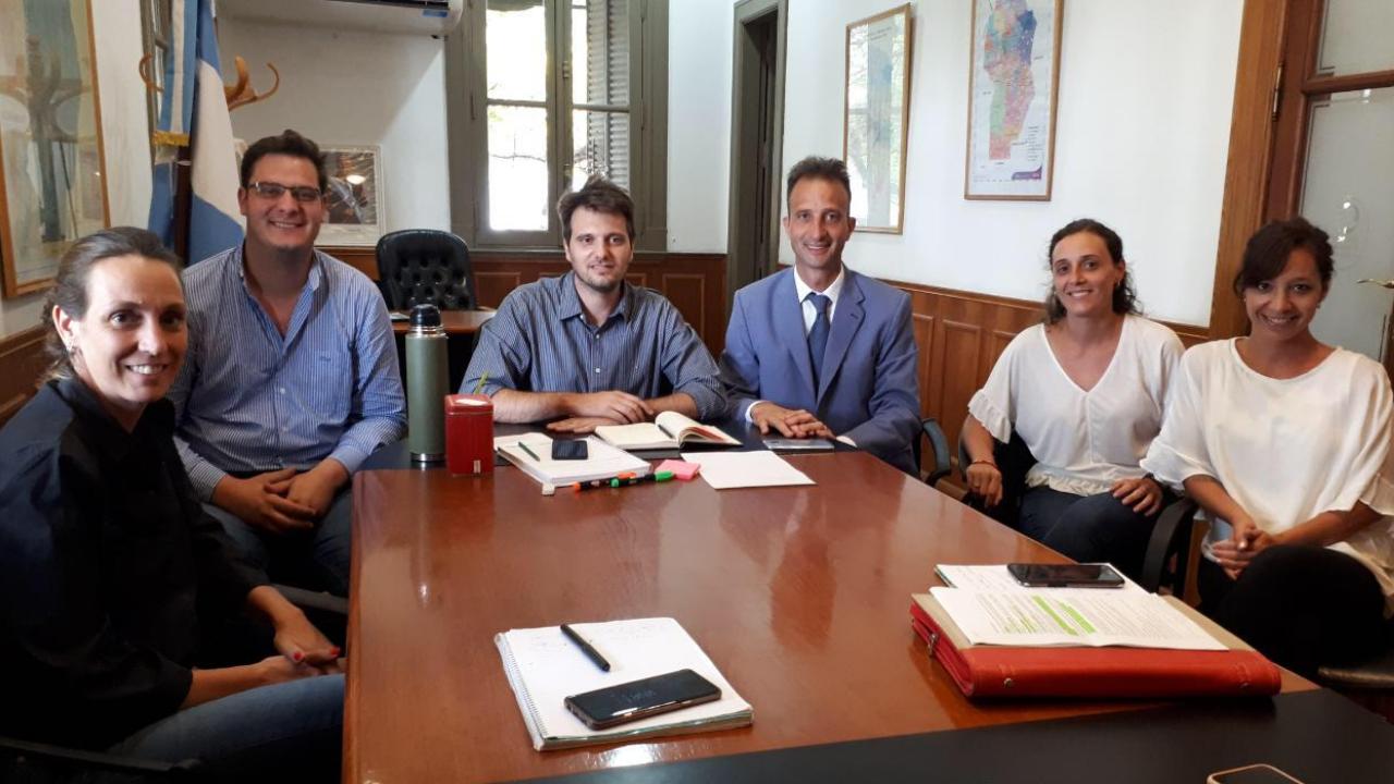 Octavio Ibarra y su equivo ejecutivo en la Secretaria de Ambiente